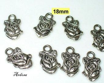 8 followers rose 18mm Silver (K144. 15.1)