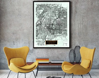 New Mexico Poster Etsy - Albuquerque nm on us map
