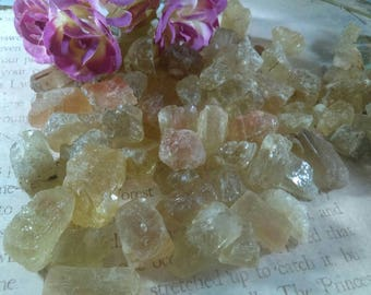 2 Scapolite gemstone natural Scapolite raw crystal scapolite crystal rough gemstones natural scapolite yellow scapolite Tanzania