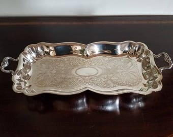 Silver Plate Handled Tray
