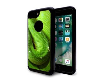 iphone 7 plus case heavy duty case back cover for apple iphone 7 iphone 7 plus green snak