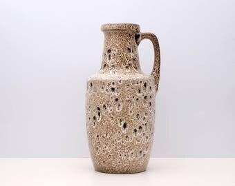 SCHEURICH FAT LAVA Handled vase 1960s West Germany Vintage Ceramic Form 404-26