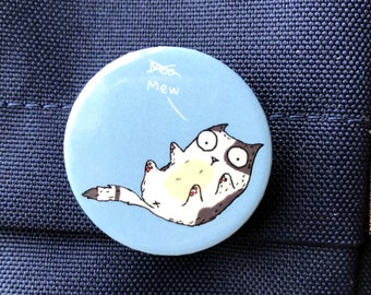 Kitty Not Cow - Fat Cat Button Badge