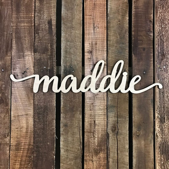 Large Wooden Signs Home Decor: Custom Wooden Word Sign, Large Wood Word Home Decor