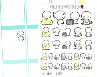 Me Time Emoti ( planner stickers )