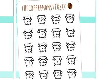 alarm clock doodle stickers