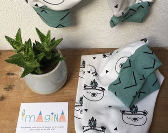 Baby bears Mint/clothing / organic baby clothing/break/organic break / harem pants/harem pants kids/pants baby