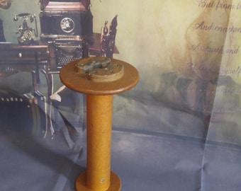 Vintage Lestershire Wood Spool