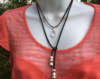 Crew neck-Lariat Necklace (2 in 1)