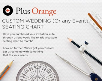Wedding Reception Seating Chart - Customized to fit your wedding invitation