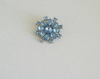 Vintage Blue 60's Brooch