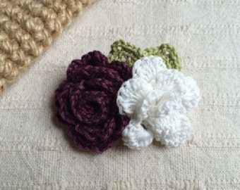 handmade croceht flower motif brooch corsage for wedding, party, gift