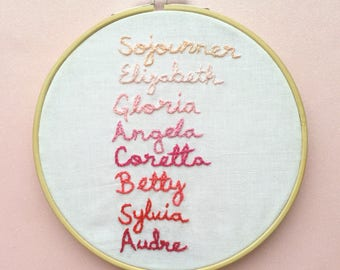 The Women Before Us Embroidery