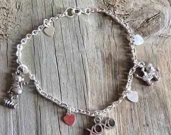 Pet lovers charm bracelet