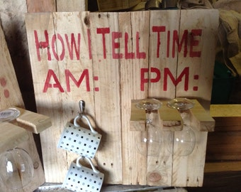 AM:PM board - Great gift idea made with reclaimed pallet wood
