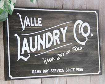 Rustic Vintage Laundry Sign Personalized Laundry Room Shiplap Magnolia Farmhouse French Country Cottage Chic Joanna Gaines Magnolia Market