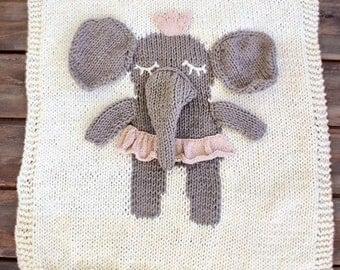 Baby girl 3D-dimensional elephants,Handmade Blanket