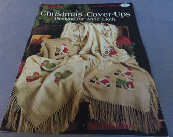 Cross Stitch Patterns, Afghan Anne Cloth, Christmas Cover-Ups, Leisure Arts Leaflet 760, 1989