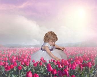 Spring Digital Background