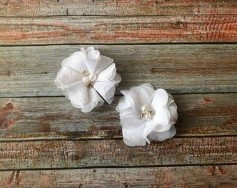White Flower First Communion Hair Clips/1st Communion Hair Clips/Baptism Hair Clips/Wedding Hair Clips/Toddler Hair Clips/Hair Clips