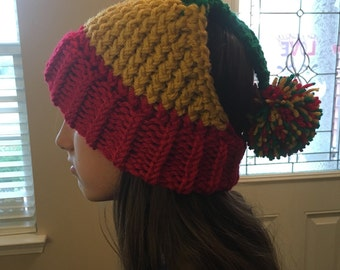 Adult Medium / Large Rasta Dread knitted winter hat