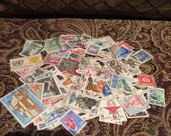 100 Czechoslovakian Stamps
