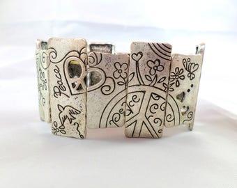 Vintage Elastic Peace Bracelet
