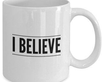 The BOOK of MORMON MUSICAL Inspired Mug - I Believe - Broadway Fan Gift - 11 oz white coffee tea cup