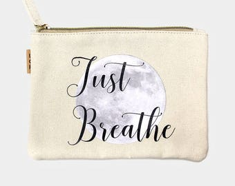 Just Breathe Canvas Eco Pouch
