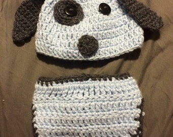 Crochet puppy outfit please send size and color youd like