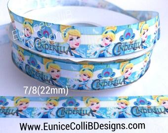 """7/8"""" Cinderella inspirado ribbon"""