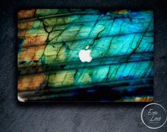 Blue Macbook Air Decal Blue Macbook Air Skin Labradorite Macbook Air Stickers Macbook Air 13 Cover Macbook 11 Decal Vinyl EL042