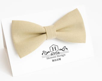 Beige Sand Bow Tie for wedding / linen bow tie for men / bow tie Beige / Beige boy's bow tie, Beige necktie, men's bow tie