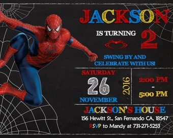 Invitation Spiderman with adorable invitation design