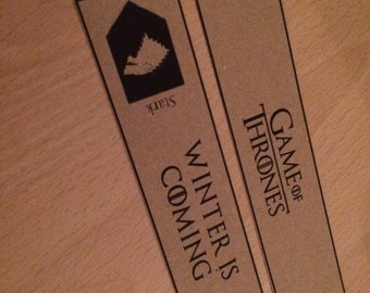 Game of Thrones Bookmark Set. Great Gift Set of 2 Bookmarks.