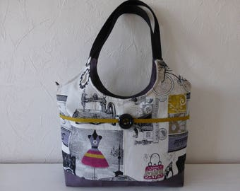 Handbag, jacquard, multicolored, Parisian, chic fabrics