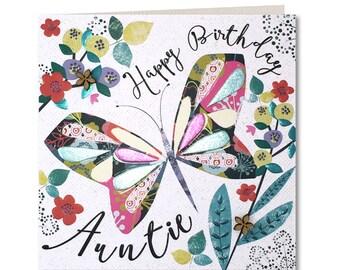 Chroma Collection - Auntie Birthday Card - Happy birthday Auntie - Birthday Card for Her - Birthday Greeting Card - Happy Birthday - CH19