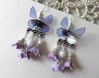 """The flight of the Butterfly"" colored earrings"
