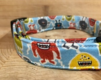 Little Monsters Love; Dog and Cat Collar with OPTIONAL Best Friend Bracelet