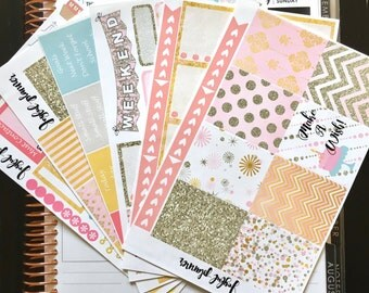 Birthday planner stickers kit for ECLP Erin Condren Life Planner and MAMBI Happy Planner Ready To Ship!