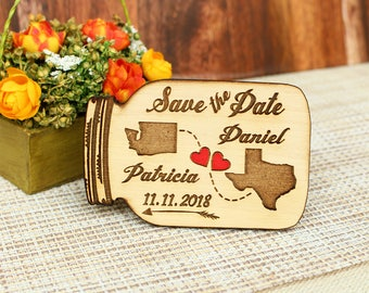 Love save the date magnet wedding save the date wood wedding save the date rustic save the date magnet wood save the date rustic wedding