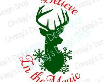 Christmas deer svg download / Sign template / deer svg dxf / Merry Christmas SVG dxf / Holiday svg dxf / vinyl crafting / christmas clipart