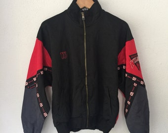 Vintage Wilson Track Top Trainer Jacket Retro