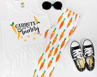 Easter Carrot Leggings/Capris, Easter Leggings, Girl/Baby Easter Carrot Leggings/Capris, , Carrot Knot Headband, Modern Girl/Baby
