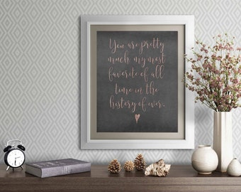 Valentine's Day Instant Print, You are my favorite person instant download, 8x10 instant download