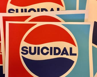 Suicidal Sticker