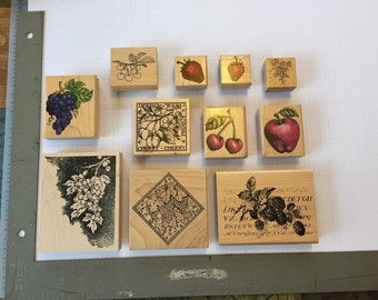 Fruit Ink Stamps (Lot of 11)