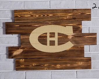 Montreal Canadiens Wood Sign Montreal Canadiens Wall art Montreal Canadiens Gift Montreal Canadiens Birthday Montreal Canadiens Party wooden