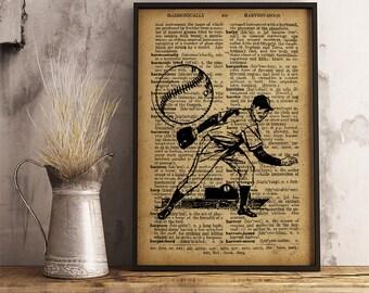 Baseball Pitcher poster, Sports Baseball Print, Vintage Baseball Player Poster, sports collage man cave decor, Baseball Pitcher V16