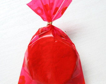 Pack of 30 RED Christmas Cellophane Bags - Perfect for Homemade Christmas Gifts